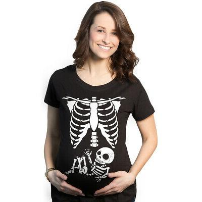 maternity skeleton baby t shirt funny cute