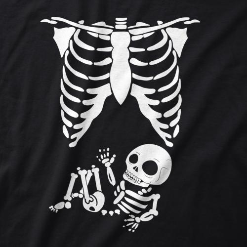 Maternity Skeleton T Shirt Pregnancy Tee Mothers