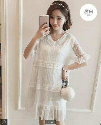 Maternity Clothes Fashion Casual Loose Short Lace