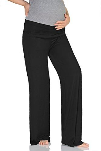 maternity wide straight pants