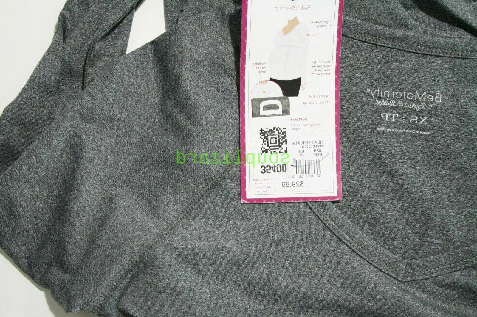 New Maternity Clothes Workout Top BeMaternityTarget Sleeve NWT