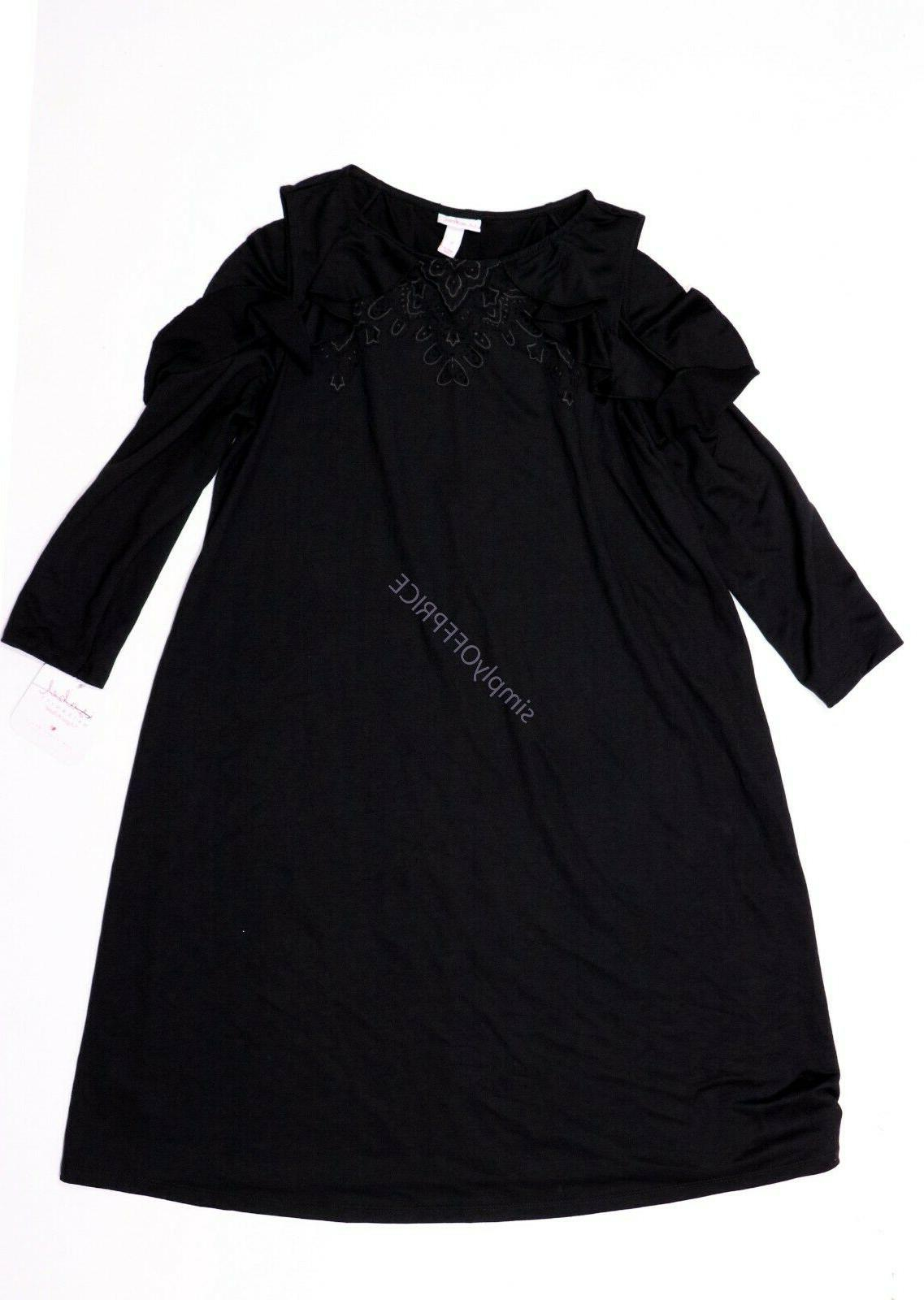 New Clothes Solid Black Dress Size Small