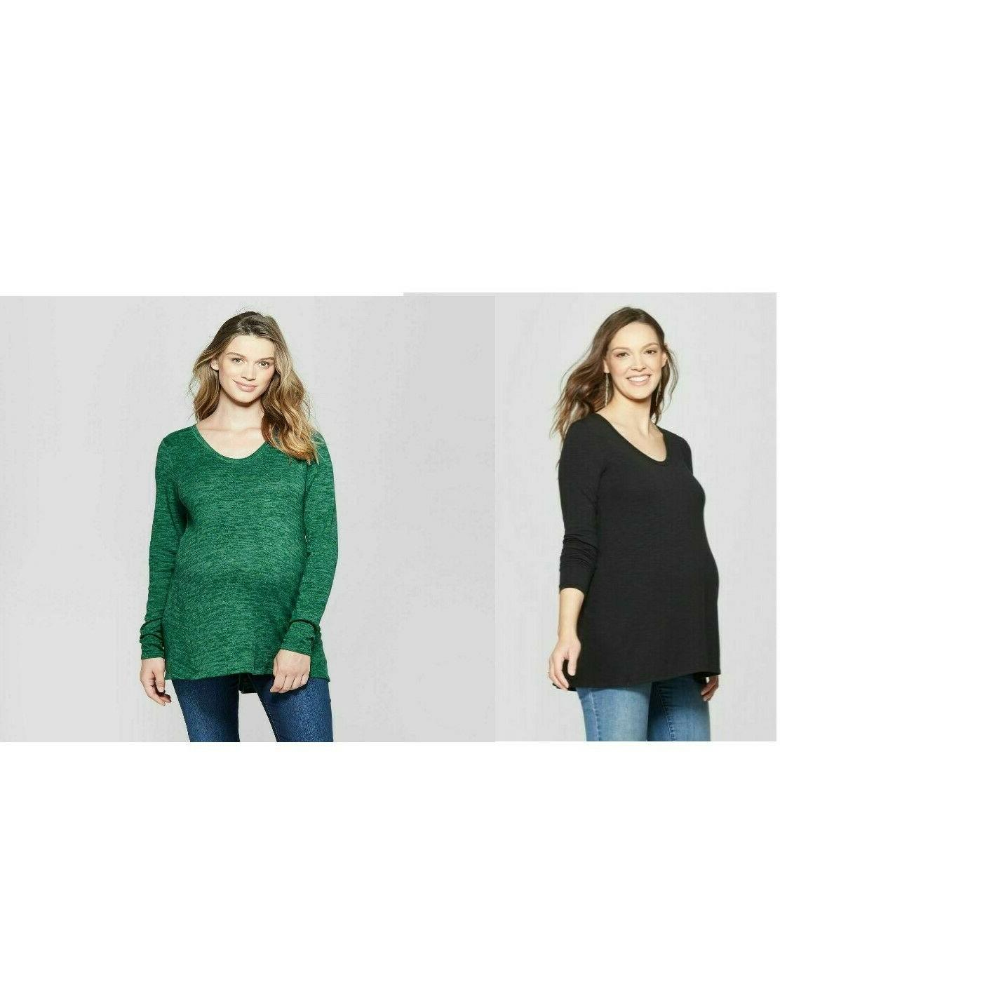 nwt isabel maternity relaxed long sleeve knit