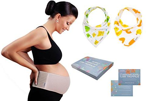 Plus Maternity Belt with Baby by - Belly Band for - Lower Pelvic Support - Prenatal Cradle - Postpartum Belly Wrap - One Size