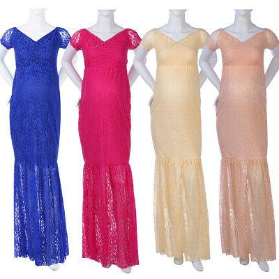 Pregnant Women Maxi Maternity Photography Props Party Prom Gown