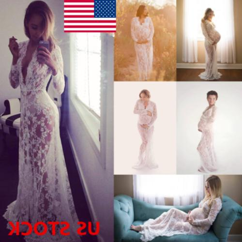 pregnant women lace maternity long gown maxi