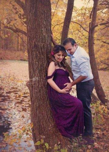 Lace Long Maxi Gown Maternity Photography