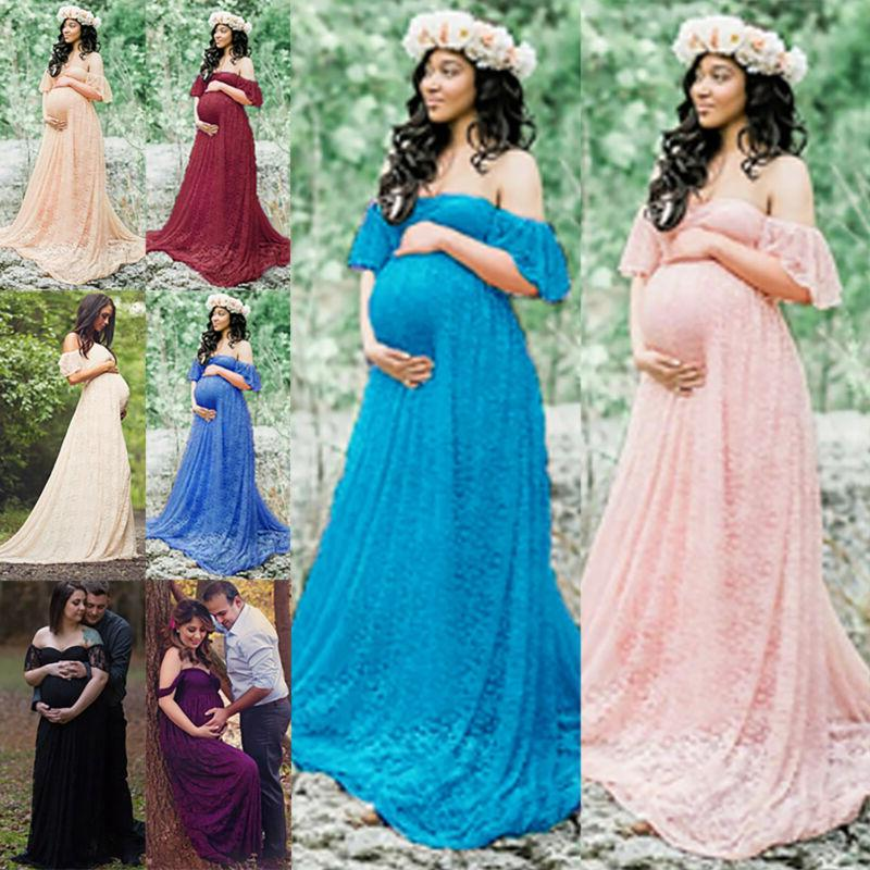 Pregnant Womens Maternity Long Dress Photo Photography Props