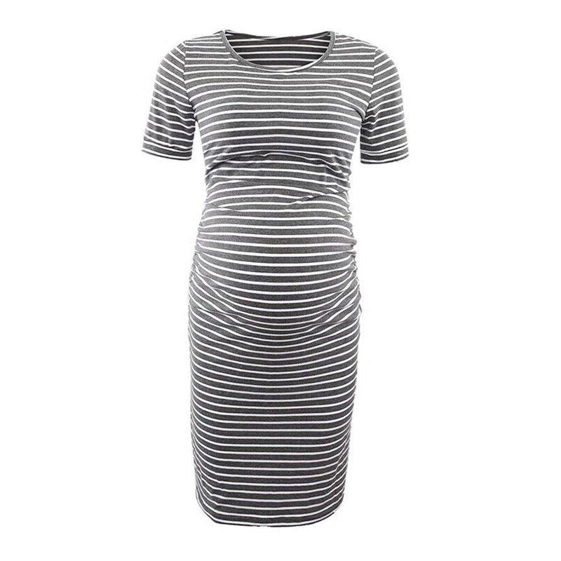 Pregnant Striped Summer Maternity Casual Clothes