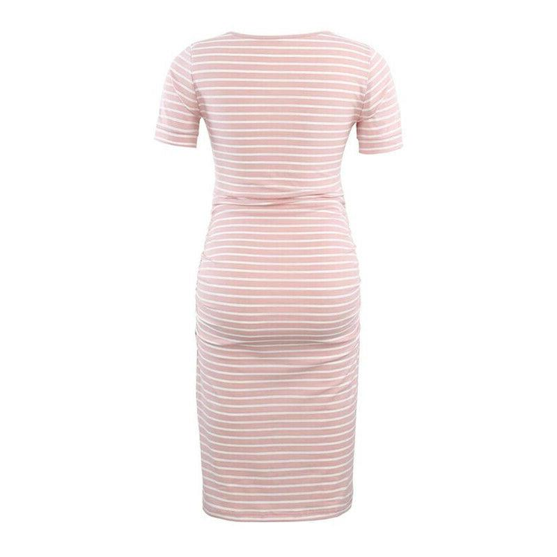 Pregnant Bodycon Summer Dress Maternity Casual Clothes