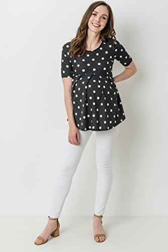 Women's Neck Maternity Top with Front