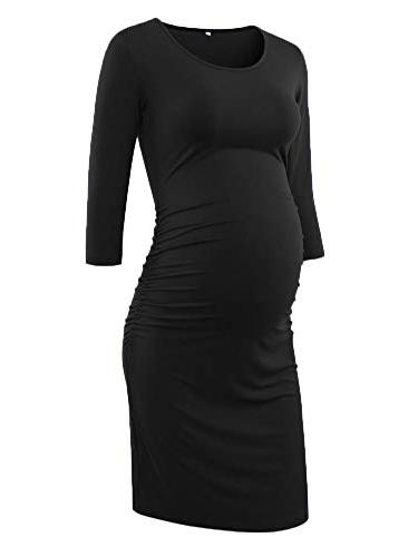ruched maternity bodycon dress mama