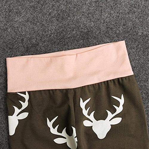 Sameno Christmas Elk Romper Hairband Clothes