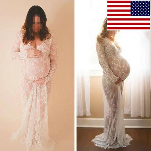 sexy white lace maternity pregnant photography dress
