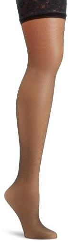 Hanes Silk Reflections Women's Lace Top Thigh High, Jet, A/B