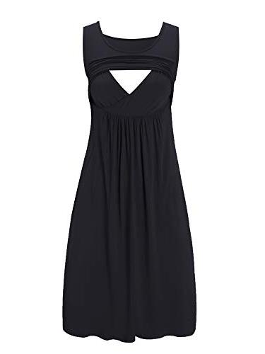 sleeveless nursing dress maternity