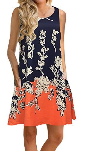 summer casual sleeveless floral printed