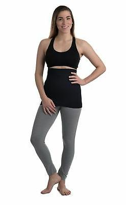 Belevation Targeted Compression Postpartum Belly Band Black