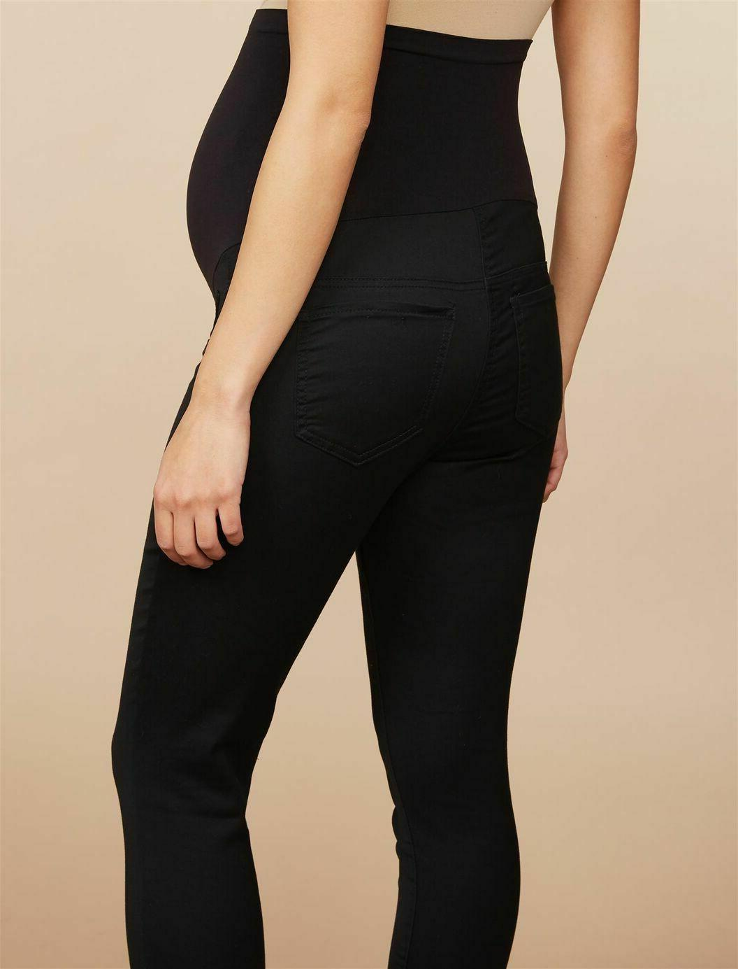 TIME & MATERNITY Skinny BLACK JEANS 12 /