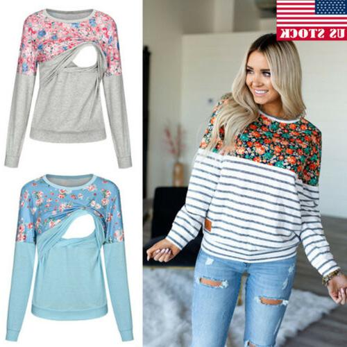 us maternity clothes breastfeeding lace t shirt