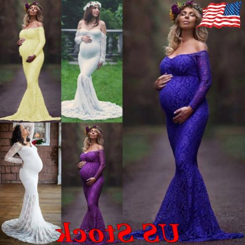 us maternity women lace photography long off