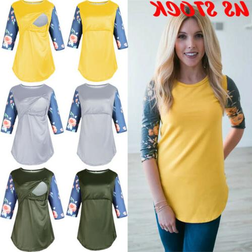 us women maternity clothes breastfeeding tops t