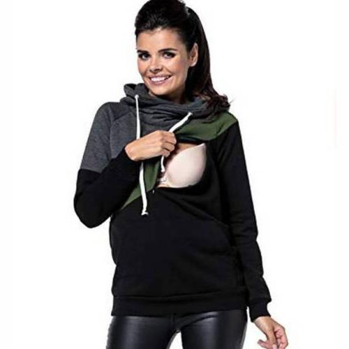 Women Nursing Maternity Clothes Hooded