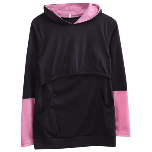 Women Maternity Breastfeeding Tops Hoodie Pregnancy Tops