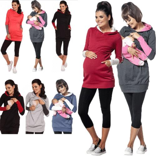 Women Maternity Clothes Tops Nursing Tops Blouse