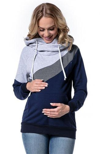 Women Maternity Clothes Tops Hoodie Tops