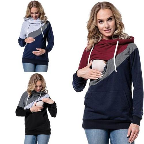 women maternity clothes breastfeeding tops hoodie pregnancy
