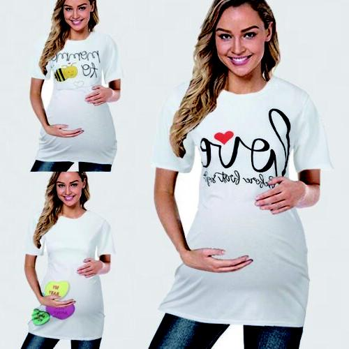 Women Print Pregnant Nursing Blouse