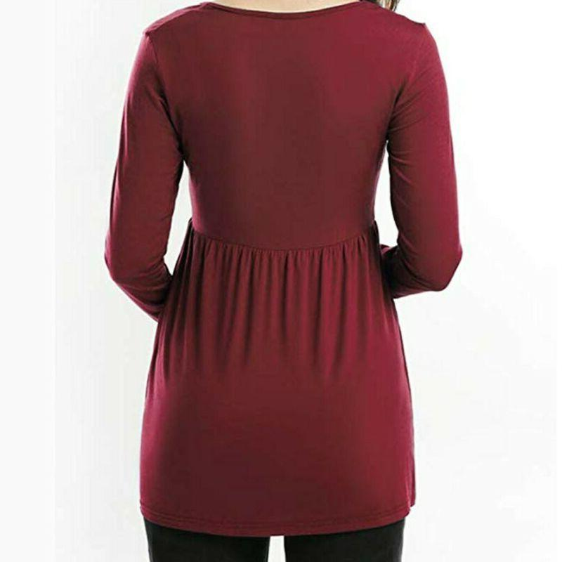 Women Maternity Sleeve Loose Tops Casual Pregnant