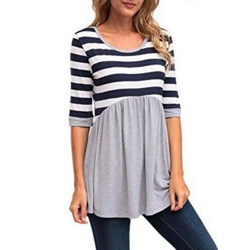 Women Loose Striped Maternity Clothes US