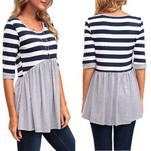 Loose Striped Women Maternity Clothes