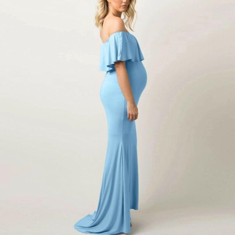 Women Maternity Shoulder Photography Dress Pregnancy Clothes