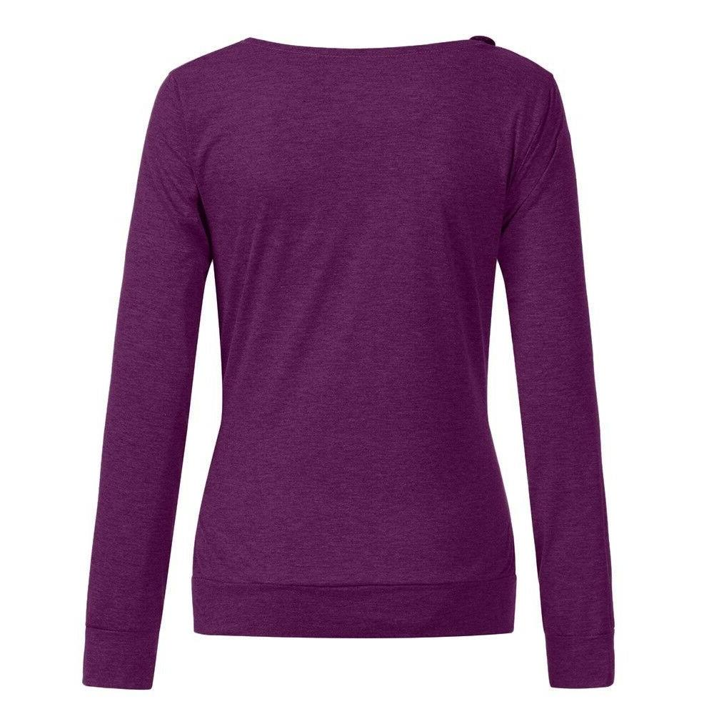 Women Sleeve Cowl Neck Buttons Tunic