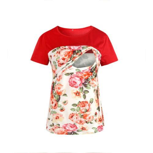 Women Maternity Nursing Breastfeeding T-Shirt Blouse