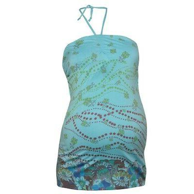 women s blue floral maternity clothing halter