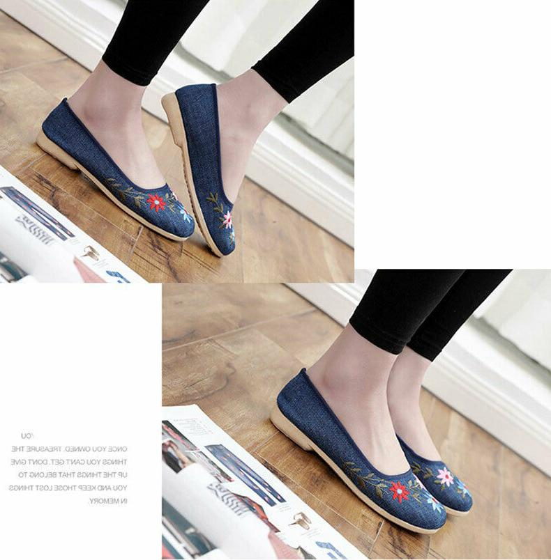 Women's Comfortable Embroidered Shoes