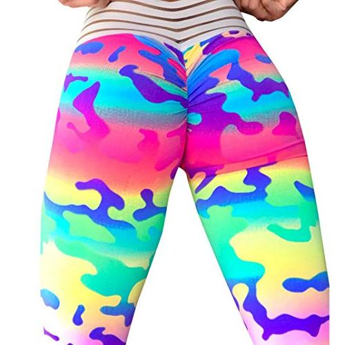 women s high waisted leggings camouflage yoga
