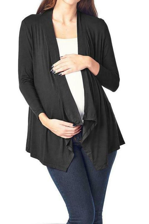 women s maternity comfortable open front cardigan