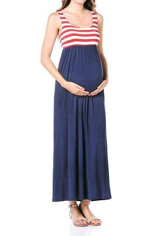 women s maternity flag maxi tank dress
