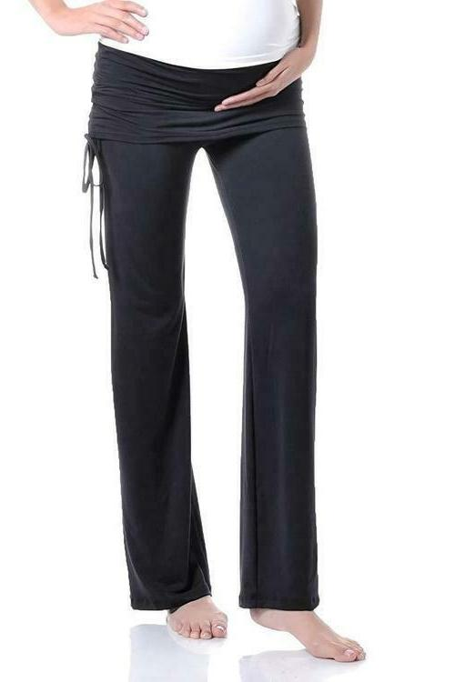 women s maternity fold over ruched drawstring
