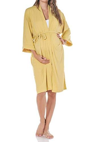 women s maternity robe delivery nursing made