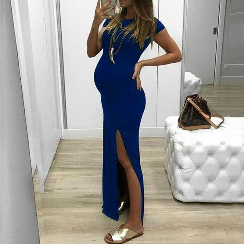 Women's Maternity Long Maxi Side Clothes