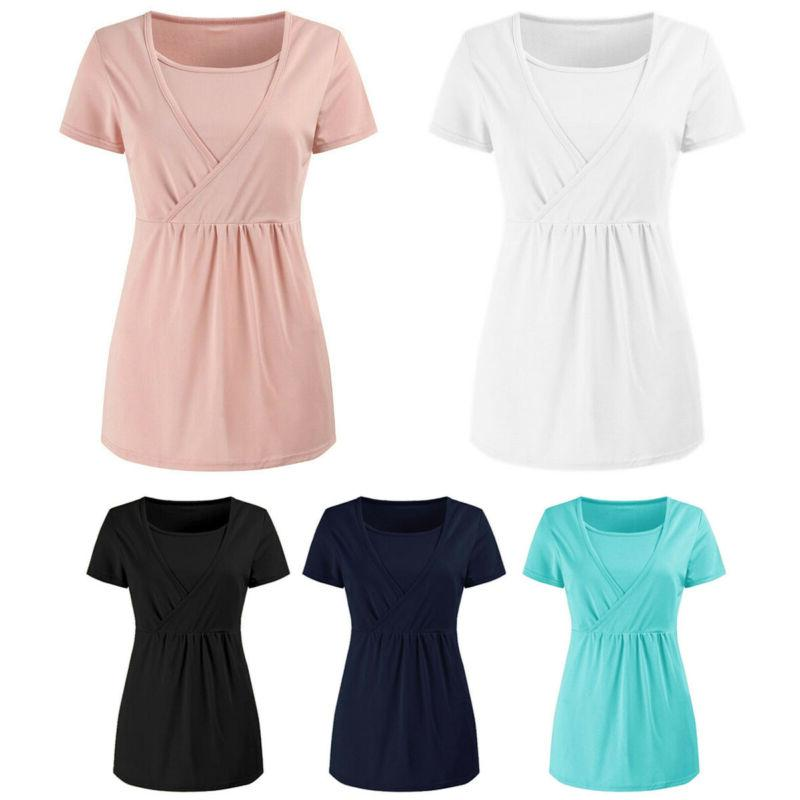 Women's Clothes Nursing Tops Blouse Tee