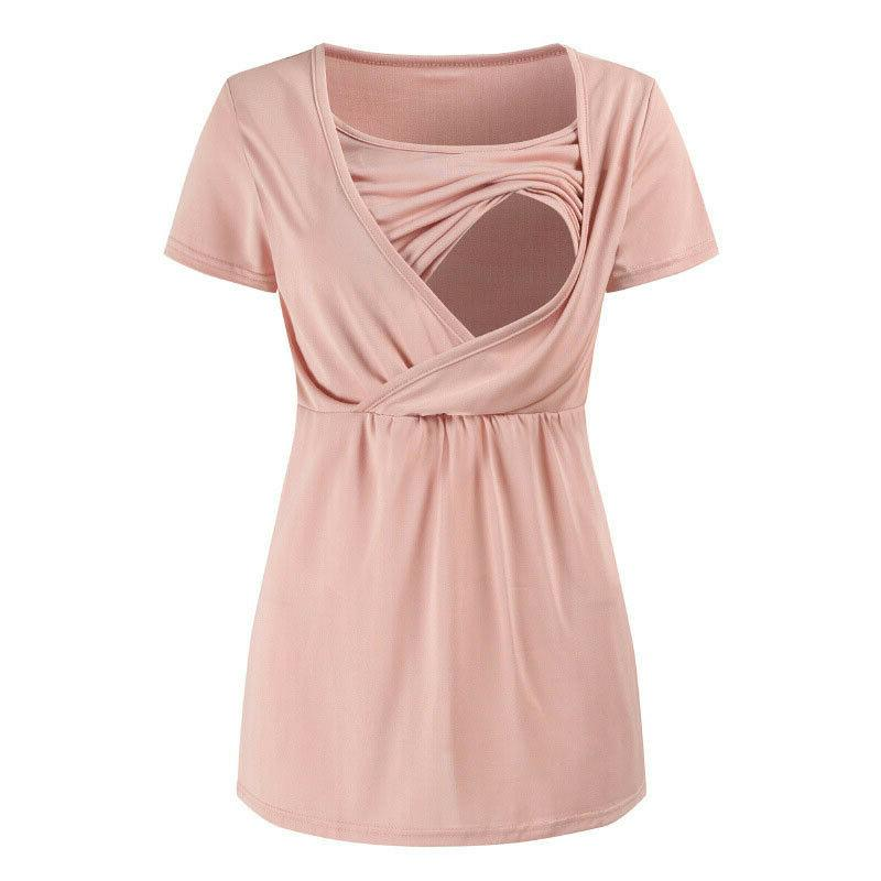 Women's Breastfeeding Clothes Nursing Tops Blouse
