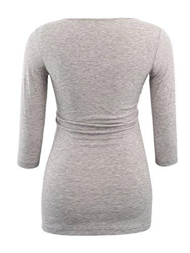 BBHoping 3/4 Sleeve Maternity Scoop Neck Clothes