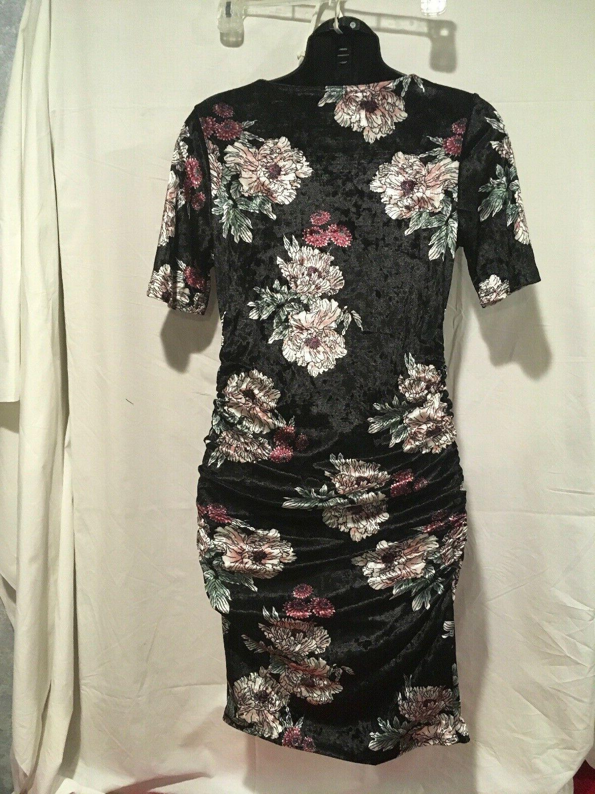 Hello Black Floral Maternity Bodycon Dress